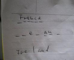 ギャップに入る単語を想像して国名をあてるゲーム:タイ語学学校