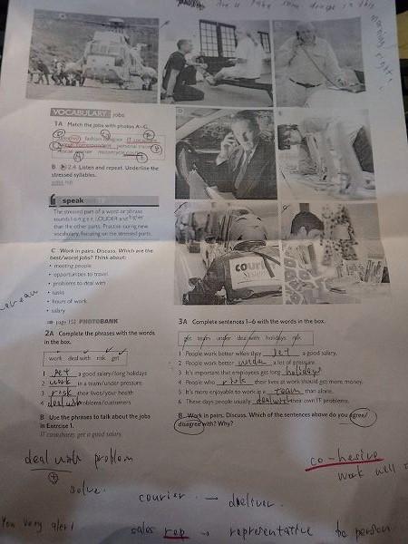 職業の名前を勉強:タイ英語プチ留学